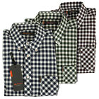 Mens Ben Sherman Mod Fit Gingham Check Classic Short Sleeve S/S Shirt XS-4XL