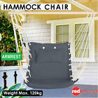Hammock Armrest Chair + Cushion Hanging Swing Indoor Outdoor Garden Camping Grey