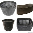 Black Micro Mesh Pond Plant Baskets Assorted Sizes Multi Value Packs