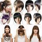 US Lady Clip On In Front Hair Bang Fringe Hair Extension Straight one piece hg29