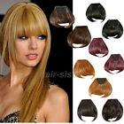 Real Natural Hair Extension Clip In Front Hair Bangs Fringe human made Hair hg29