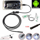5M 6LED 7mm Android Endoscope Waterproof Snake Borescope USB Inspection Camera