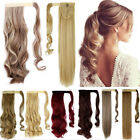 Wrap Around Clip In on Ponytail Hair Extensions piece real natural Ponytail hg27