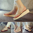 Fashion Women Casual Comfort Wedge Platform Flip Flops Thong Lady Sandals Shoes