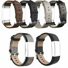 Luxury Genuine Leather Wristband Bracelet Band Strap for Fitbit Charge 2