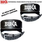Внешний вид - BUKA BLACK LEATHER WEIGHT LIFTING BELT BODY BUILDING GYM BACK SUPPORT 4 INCH NEW