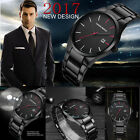 Luxury Mens Stainless Steel Band Formal Watches Date Analog