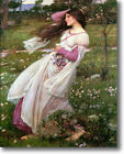 HUGE WATERHOUSE Windflowers Stretched Canvas Giclee Art Repr Print ALL SIZES