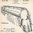 1939 Patent Drawings Of Trains Streamlined Streamliner Locomotive Railroad Gift