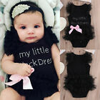 Cute Newborn Baby Girl Infant Romper Jumpsuit Bodysuit Tutu Dress Clothes Outfit