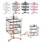 96 Holes Square Metal Earrings Jewelry Holder Display Rotating Stand Show New