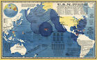 Map of the U.S. Navy Ships Bases Men As of January Naval Sailor Wall Art Poster
