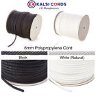 6MM ROUND POLYPROPYLENE ROPE BRAIDED POLY CORD SAILING CAMPING CLIMBING BOATING