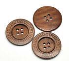 Large Wooden Greek Key Style Buttons 6cm.  Ideal Home Decor, Jumpers,Free P&P