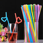 50 /100Pcs  Straws for Party Drinking Straws Birthday Wedding Kid Crafts JR