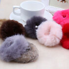 2017 Fashion Fluffy Faux Fur Furry Scrunchie Elastic Hair Ring Rope Band Tie HO