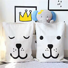 Cotton Canvas Bag Shoppers Printing Laundry Storage Bag Pouch Clothes Baby Kids