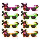 BULK BUY PALM TREE FLAMINGO SUNGLASSES HAWAIIAN SUMMER FANCY DRESS COSTUME LOT