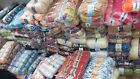 new stocklot job lot mixed lot of hand knitting wool / yarn (12kg) 120 balls 001