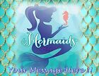 MERMAID PARTY ! Edible Cake Topper Frosting Sheet  quarter, half, round, strips