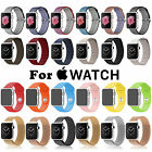 Genuine Silicone/Leather Loop/Milanese Magnetic/Nylon Strap Band for Apple Watch