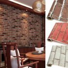 Brick Pattern 3D Texture Adhesive Wallpaper Background Wall Sticker Home Decor