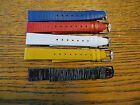 New Old Stock LeJour Sixty Watch Leather Bands -16 MM Stripes-Various Colors