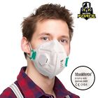 FFP3 dust masks VALVED Safety FACE mask FOLD flat respirator Protection OEL X 50