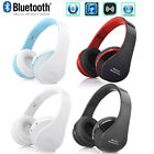 Bluetooth Wireless Headset Stereo Headphone Foldable Earphone With Mic Universal