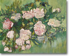 HUGE Van Gogh PINK ROSES Stretched Canvas Giclee Art Repro Print ALL SIZES