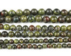 Natural Dragon Bloodstone Beads Gemstone Red Green Round Loose Bead 6mm 8mm 10mm