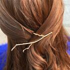 2PCS Women Bobby Pins Metal Tree Branch Hairpins Gold Silver Hair Clips