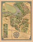 Pictorial Map Smith College Campus Vintage History Wall Poster Print Genealogy