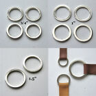"""Round Flat D Rings Nickel Plated 1.5"""" 1"""" 3/4"""" High Quality O Rings"""
