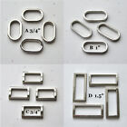 """D Rings Rectangle or Oval Nickel Plated Purse Hardware 3/4"""" 1"""" 1.5""""  Set of 4"""