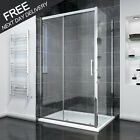 1500mm Sliding Shower Door Enclosure with Tray Screen Glass Cubicle Side Panel
