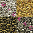 2.4/3.2/4/5/6/8 mm 4 colors alloy round ball spacer beads Diy loose accessories
