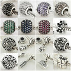 Authentic Solid 925 Sterling Silver Charms H fit European Bead Charm Bracelets