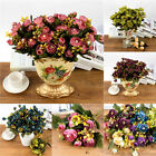 1 Bouquet Artificial Fake Roses Silk Flower Bridal Home Room Wedding Decor New
