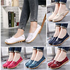 Fashion Women Anti-slip Casual Flat Shoes Moccasin Soft Leather Ladies Loafers