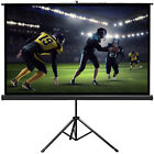 Manual Pull Down Projector Projection Screen Home Theater Movie