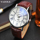 Fashion Luxury Watch Men's Women's Business Leisure Leather Quartz Wristwatch