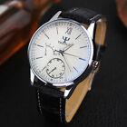 Fashion Luxury Top Watch Men's Business Leisure Leather Quartz Watch Wristwatch