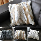 100% Real Rabbit Fur Pillowcase Cushion Cover Decorative Pillow Case Home Decor
