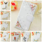 Flip Bling Diamond Crystal Wallet Stand Case Leather Cover For LG G Vista VS880