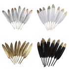 12 pcs Goose Feathers 4-6 inch Crafts Decoration Party Wedding Millinery DIY