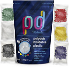 Polydoh moldable plastic +free 6 packs of coloring granules instamorph polymorph image