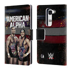 OFFICIAL WWE AMERICAN ALPHA LEATHER BOOK WALLET CASE COVER FOR LG PHONES 2