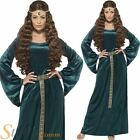 Ladies Medieval Maiden Maid Marion Juliet Fancy Dress Costume Adult Outfit