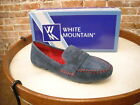 White Mountain Skipper Navy Blue Suede Mocassin Loafers NEW